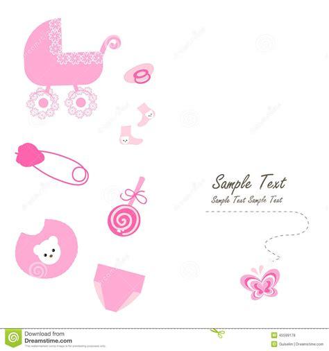 newborn baby symbols vector card stock vector image