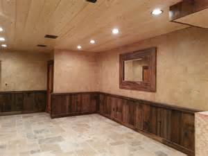 Tin Wainscoting Crackled Finish Above Barn Wood Wainscoting Pennsylvania