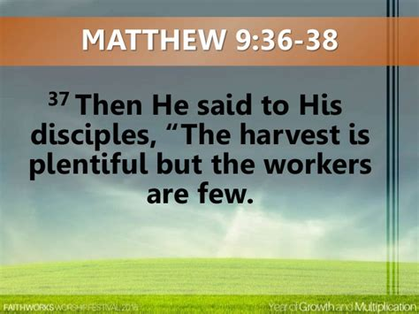 the harvest is plentiful but the workers are few 2015 7 day worship festival day 7 victory celebration