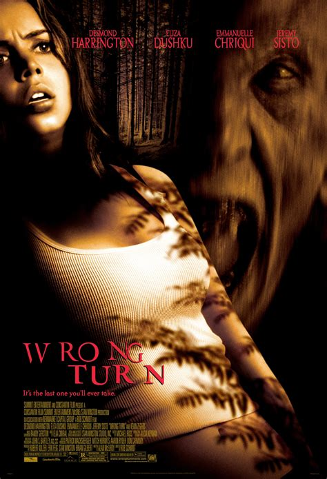 film horror wrong turn wrong turn 2003 horror movie poster wrongturn