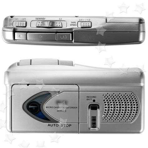 micro cassette player micro cassette one touch talk book voice recorder