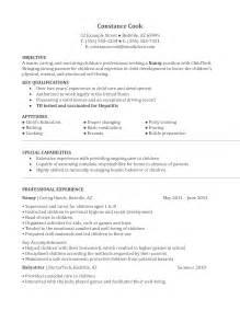 Resume Samples Nanny by Nanny Agency Resume Sample