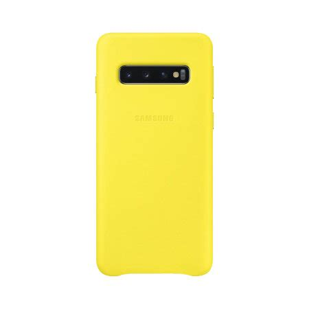 Samsung Galaxy S10 Yellow by Official Samsung Galaxy S10 Leather Yellow