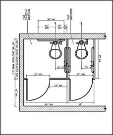 ada bathroom floor plans ada bathroom dimensions and guidelines for accessible and