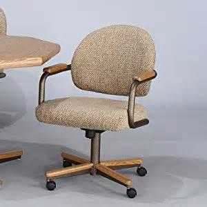 Chromcraft Furniture Kitchen Chair With Wheels Chromcraft Tilt Swivel Arm Chair Finish Bronze Metal And Glenoak Upholstery