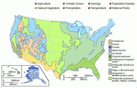 vegetation map of america grolier atlas