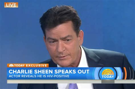 sheen confirms he is hiv positive i