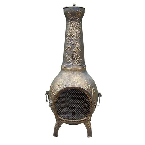 clay chiminea home depot 37 in clay kd chiminea with iron stand scroll kd