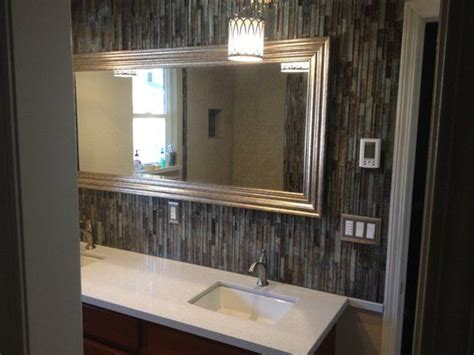 bathroom tile accent wall full length mirror with tile surround google search