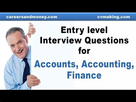 entry level questions for accounts accounting finance entry level