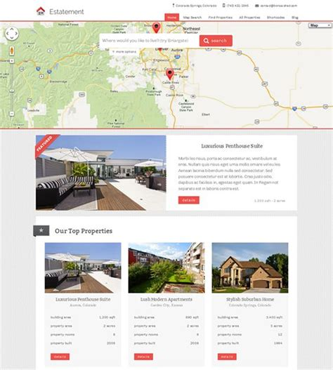 20 Best Images About 20 Of The Best Real Estate Wordpress Themes On Pinterest Property Listing Property Management Website Templates