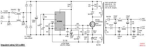 len 12v 20w 12v and 90v switched power supply with uc3842 uydudoktoru