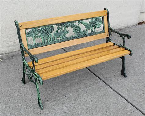 park bench kids park bench 77x39x50cm kids cast iron hardwood garden