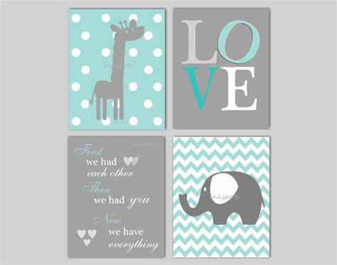 Elephant Wall Decor For Nursery Elephant Nursery Wall Giraffe Nursery Wall We Had E
