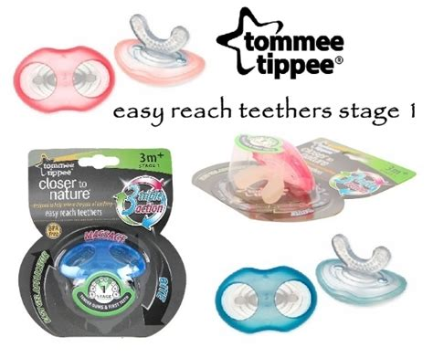 Tommee Tippee Easy Reach Teethers Stage 3 Color Pink For Age 6m tommee tippee easy reach teether stage 1
