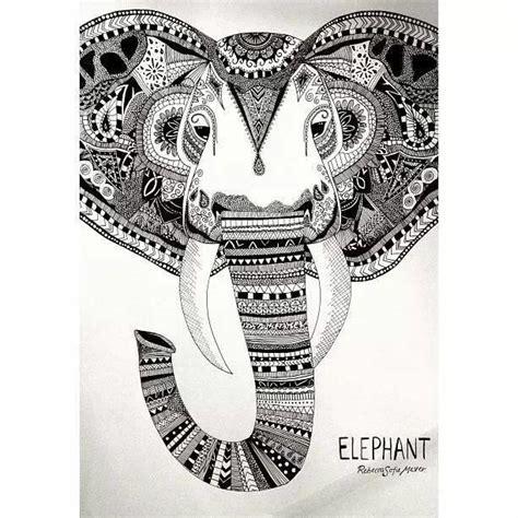 doodle elephant elephant doodle zentangles and patterns