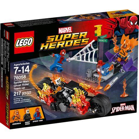 Lego Marvel Heroes 76058 Spidermanghost Rider Team Up Set lego spider ghost rider team up 76058 brick owl lego plateforme