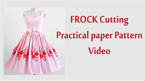 frock pattern youtube frock cutting and stitching in tamil with paper pattern