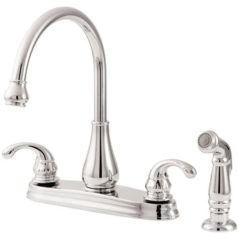 2 handle standard kitchen faucet in chrome hs8181210cp pfister avalon 2 handle standard kitchen faucet in