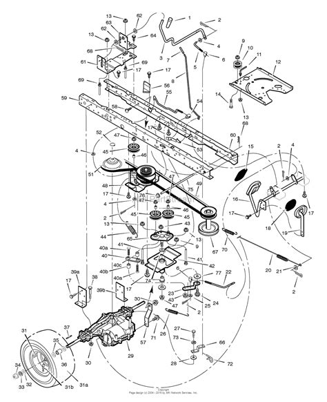 murray parts diagram murray 425308x31a lawn tractor 2005 parts diagram for