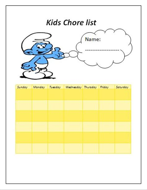 child chore list template 127 best templates images on models