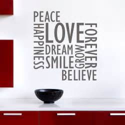Words Wall Stickers inspirational wall words wall decals stickers graphics