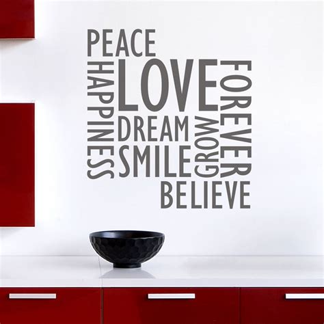 wall word stickers inspirational wall words wall decals stickers graphics