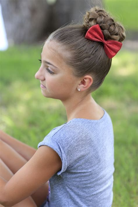 cute hairstyles for 10 year old girl dance pancaked bun of braids updo hairstyles cute girls