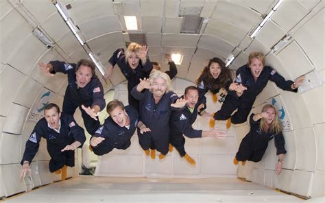 room with no gravity galactic s billionaire founder sir richard branson takes zero g flight
