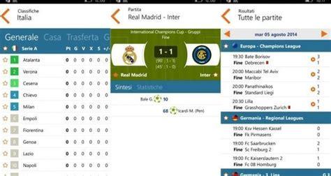 www calcio diretta mobile it risultati in diretta livescore segui lo sport su windows