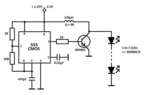 circuito alimentazione led led driver circuit with 555 timer
