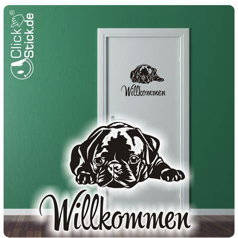 Aufkleber Hunde Willkommen by T 252 Rtattoo Clickstick Autoaufkleber Autotattos