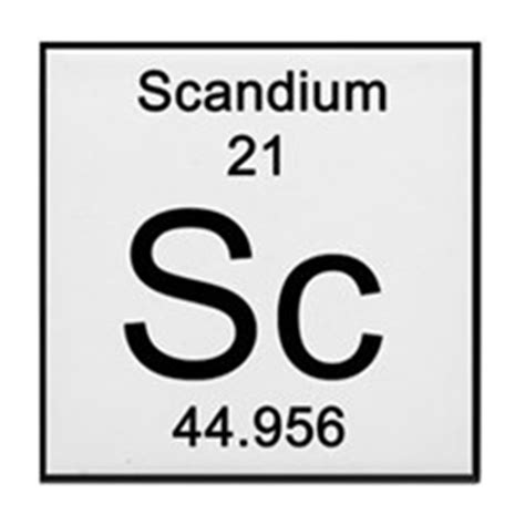 Scandium Periodic Table by Scandium Element Coasters Cork Puzzle Tile Coasters