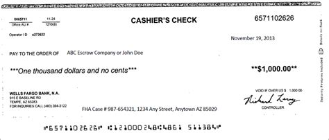 cashiers check template template design