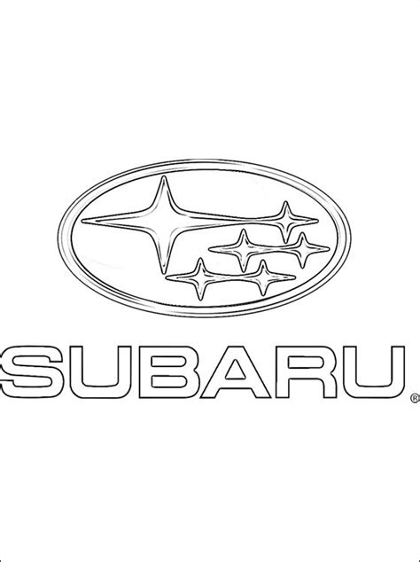 cars logo coloring pages coloring page subaru logo coloring pages