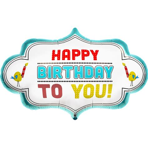 Balon Foil Happy Birthday Dot happy birthday balon ar蝓ivleri