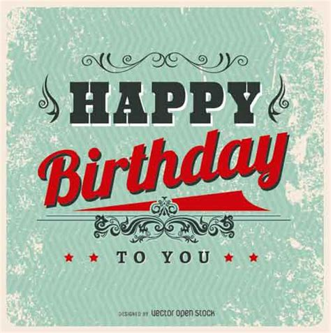 Birthday Card Vintage Template by Birthday Card Template 15 Free Editable Files To