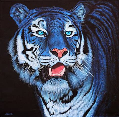 Blue Tiger blue tigers colorful animals and animal paintings on