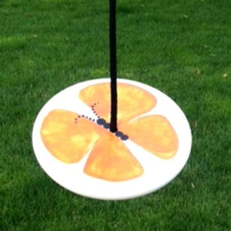 swing store orange butterfly wood disc swing