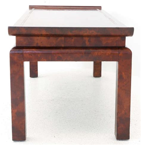 chinoiserie style leather cocktail table by william haines