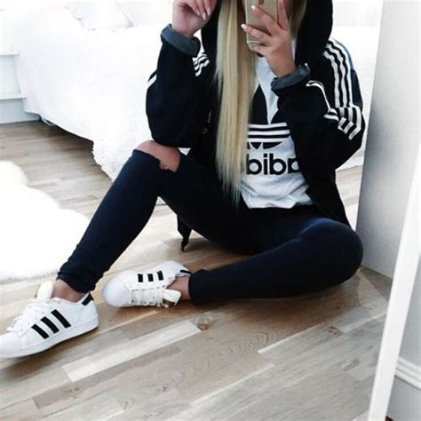 Jaket Hoodies Adidas Tshirt Hoodie Sweater Adidas Best Produk fashion ripped denim white black adidas shirt