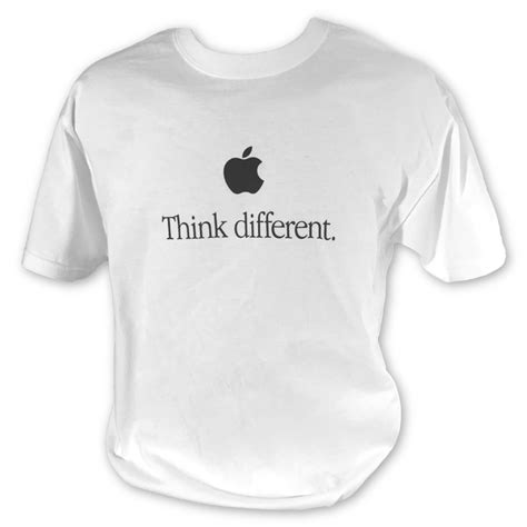 Tshirt Think Different Apple think different t shirt the missing bite