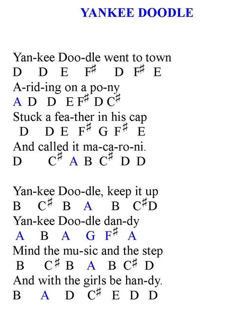 yankee doodle how to play on piano lessons today s piano lesson is yankee doodle this