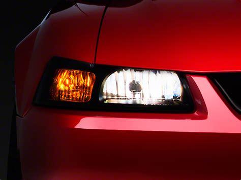 smoked headlights and lights axial smoked mustang headlights 49110 99 04 all free
