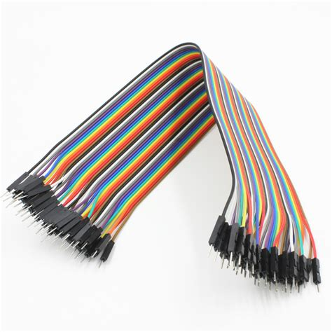 Jumper Cable Dupont 10cm Isi 20 Murah 20cm dupont wire color jumper cable 2 54mm 1p 1p to 40pcs ebay