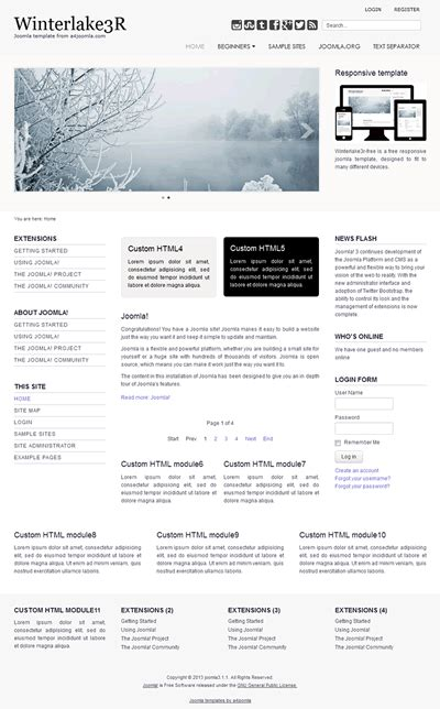 responsive professional joomla 3 x template a4joomla