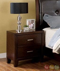 Iv Brown Set enrico iv contemporary brown cherry platform storage bedroom set with padded leatherette