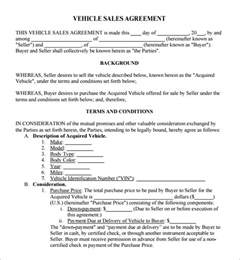 used car sales contract template free 6 free sales agreement templates excel pdf formats