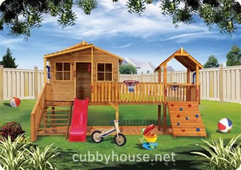Elevated Cubby House Plans Harrys Hideout Cubby House Australian Made Backyard Playground Equipment Diy Kits