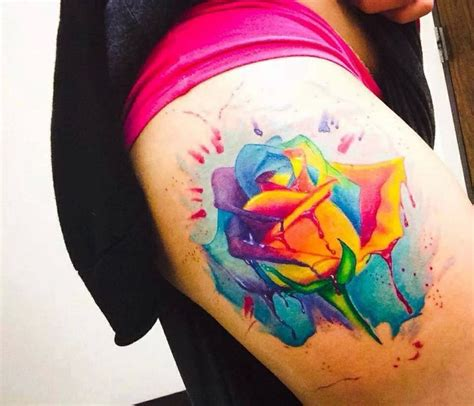 colorful rose tattoos rainbow tattoos rainbow roses
